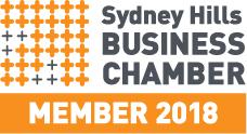 Sydney Hills Business chamber 2018 member